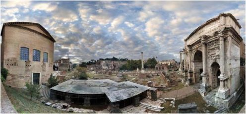 Panorámica del Foro romano