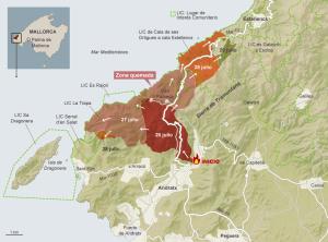 En la zona afectada se ve cómo coincide en un extremo con la boca del dragón