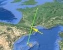 El meridiano de Paris pasa por el sur de Francia en la región del Languedoc