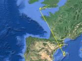 Si prolongamos la linea que une Lluc con Montserrat llegaremos hasta el comienzo de Saint Michael's ley line