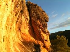 Perfil en el pico petit del Puig de Sa Bastida, Alaró, Mallorca