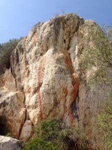 Piedra de poder en el puig de Sa Morisca, Sta. Ponsa, Mallorca